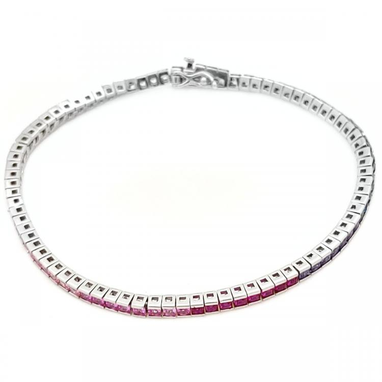 Multi-color Silver Bracelet