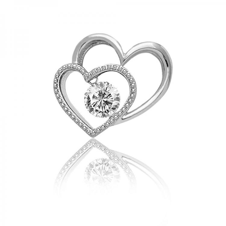 Entwined Heart Pendant with Chain
