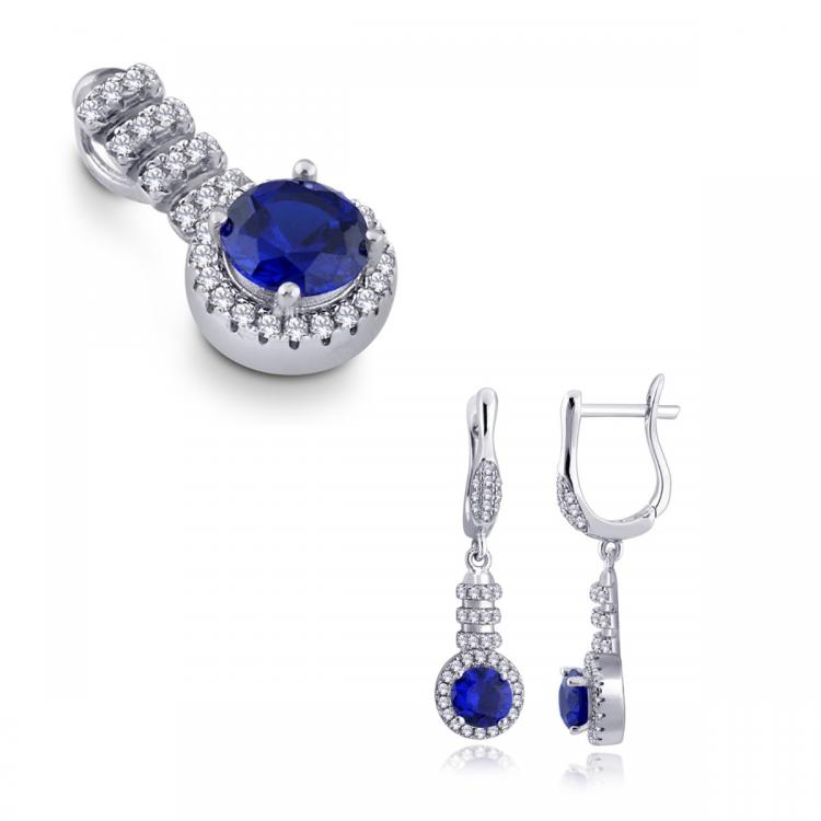 Ladies Pendant and Earring Set