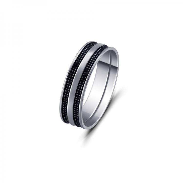 Double-Striped Silver Ring