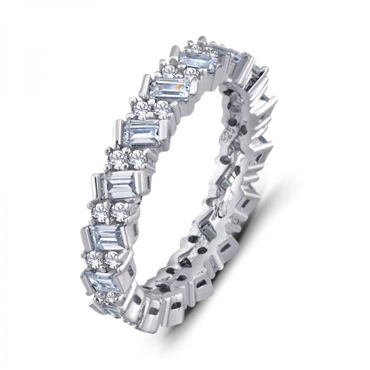 Baguette Cubic Zirconia Eternity Ring
