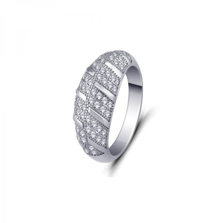 Micro Pave Sterling Silver Ring