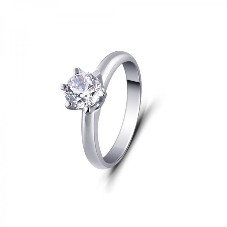 Lucid Solitaire Ring