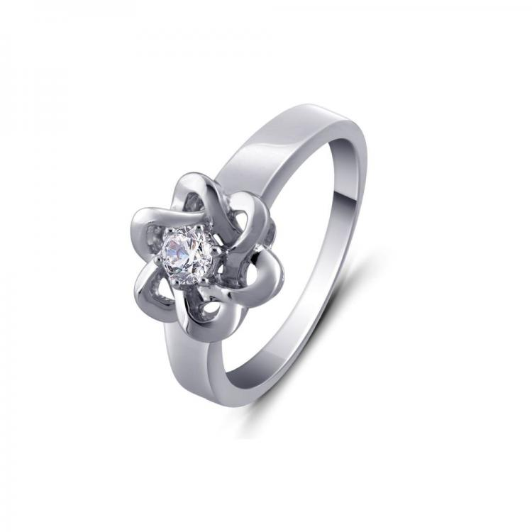 Floral Solitaire Ring