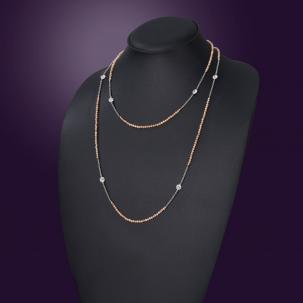 Nazakat Peach  Long Necklace
