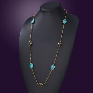 Nazakat Aqua Long Necklace