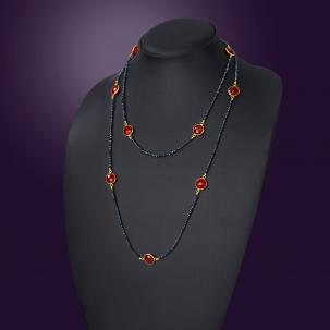 Nazakat Red Long Necklace