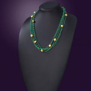 Nazakat Green Layered Necklace