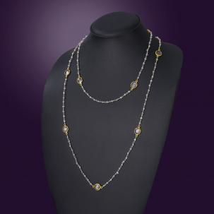 Nazakat  Crystal Long Necklace