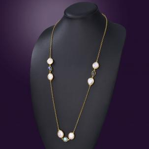Nazakat Pearl Long Necklace